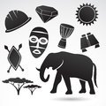 Traditional symbols of Africa. Royalty Free Stock Photo
