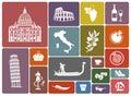 Traditional symbols of Italy Royalty Free Stock Photo