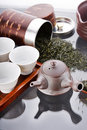Traditional tea ceremony accessories Royalty Free Stock Images