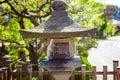 Traditional temple lantern in Takayama Japan