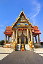 Traditional thai architecture wat temple Stock Photo