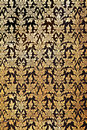 Traditional thai flower pattern Stock Photography