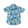 Traditional thai flower shirt Royalty Free Stock Photo