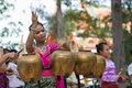 Traditional Thai folk dance (Pongrang) Royalty Free Stock Photo