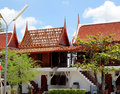 Traditional thai houses located at wat yai chai mongkol attractions of thailand Royalty Free Stock Photos