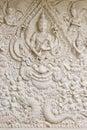 Traditional Thai style molding art Royalty Free Stock Photo