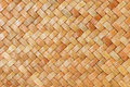 Traditional thai style pattern nature background of brown handicraft weave texture wicker surface for furniture materia Royalty Free Stock Photo