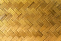 Traditional thai style pattern nature background of brown handicraft weave texture wicker surface for furniture material Royalty Free Stock Photo