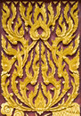 Traditional Thai style pattern wall Stock Images