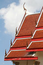 Traditional thai style roof temple Stock Images