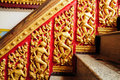 Traditional thai style at the temple Royalty Free Stock Photography