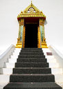 Traditional thai style temple pathway entrance stairs go to temple Stock Images