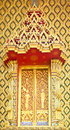 Traditional Thai Style on Window Temple Stock Photos