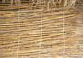 Traditional thatched huts wall in the desert Royalty Free Stock Photo