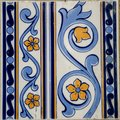Traditional tiles from porto portugal azulejos facade of old house in Royalty Free Stock Photography