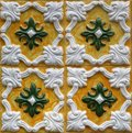 Traditional tiles from porto portugal azulejos facade of old house Royalty Free Stock Image