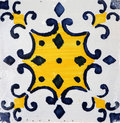 Traditional tiles from porto portugal azulejos facade of old house Royalty Free Stock Photo