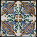Traditional tiles from porto portugal detail of azulejos Stock Photography