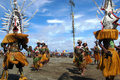 Traditional tribal dance at mask festival th gulf toare village gulf province papua new guinea on june Stock Image