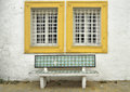 Traditional Tunisian bench Stock Image