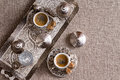 Traditional Turkish coffee for two Royalty Free Stock Photo