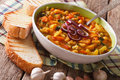 Traditional Tuscan ribollita vegetable soup close up in a bowl. Royalty Free Stock Photo