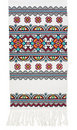 Traditional Ukrainian embroidered towel Stock Photography