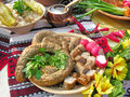 Traditional ukrainian food in assortment Royalty Free Stock Image