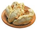 Traditional ukrainian food- varenik (dumpling) Royalty Free Stock Image