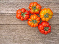 Traditional variety of italian tomatoes really tasty old fashioned costoluto Stock Image