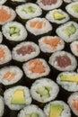 Traditional Japanese sushi maki Royalty Free Stock Photo