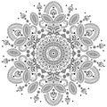 Traditional vector design element ornamental Stock Image