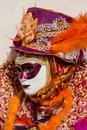 Traditional venetian carnival mask unidentified person with in venice italy at february at it is held from january th to february Stock Photo