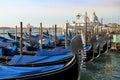 Traditional Venetian gondolas in Venice, Italy Royalty Free Stock Photo