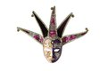 Traditional Venetian mask isolated on a white background Royalty Free Stock Photo
