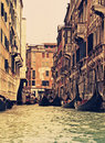 Traditional Venice gondola ride Stock Images