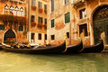 Traditional Venice gondola ride Royalty Free Stock Images