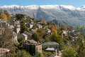 Traditional village in greece view of the sirako epirus Stock Photo