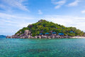 Traditional village on the sea in thailand Royalty Free Stock Photography
