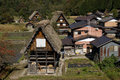 Traditional village shirakawa go japan gasshuku style in Stock Photo