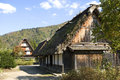 Traditional village shirakawa go japan gasshuku style in Royalty Free Stock Photo