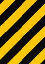 Traditional warning stripe Royalty Free Stock Photo
