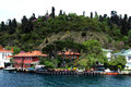Traditional waterfront houses on the bosphorus wooden house of yenikoy village village is located european side of strait of Stock Photography