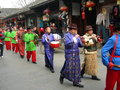 The traditional wedding celebration in china take on langzhong of sichuan province Royalty Free Stock Image
