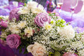Traditional wedding flowers a and elegant in ecuador Royalty Free Stock Image