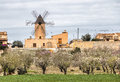 traditional windmill in Mallorca, Balearic Islands Royalty Free Stock Photo