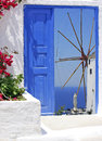 Traditional windmill of Oia village Royalty Free Stock Image