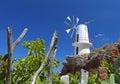 Traditional winmill in Greece Stock Photo