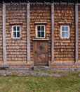 Traditional wood house detail Stock Photo