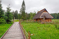 Traditional wooden hut in tatra mountains poland Stock Photography